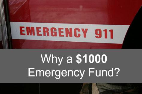 Why a thousand dollar emergency fund?