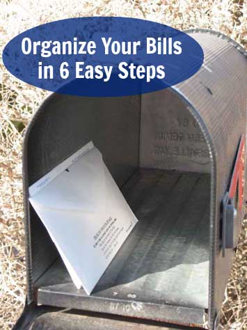 How to organize your bills in 6 easy steps