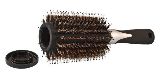 Hairbrush with hidden opening