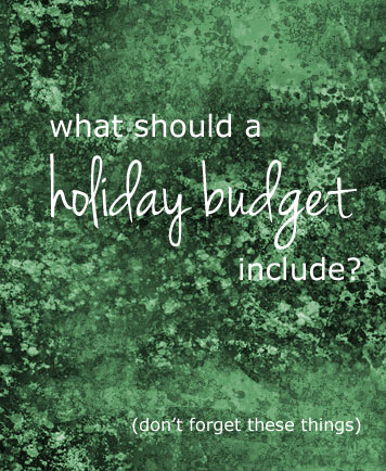Add these to the holiday budget