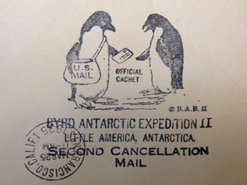 Letter cancelled in Antarctica