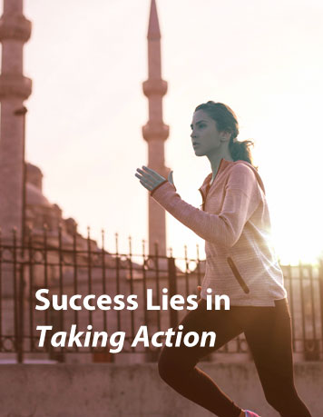 Success follows once we take action and screw up now and then, not after we have the perfect plans.