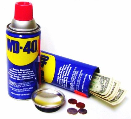 WD-40 diversion safe