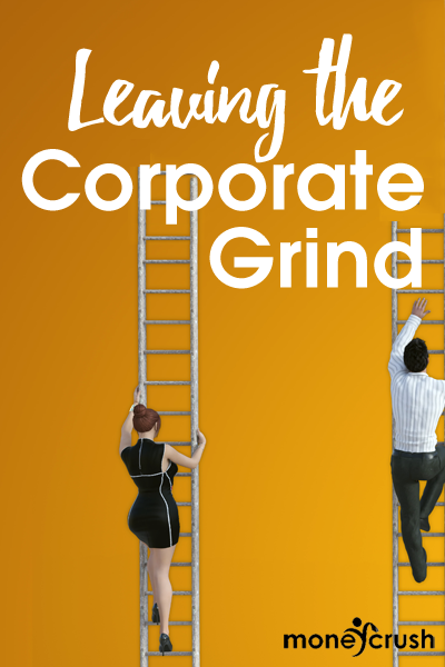 People climbing the corporate ladder